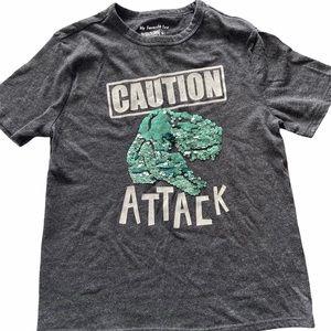 Caution Dinosaur Attack T-shirt